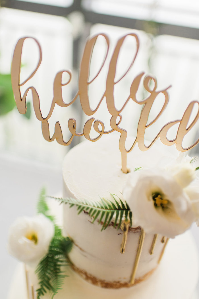 Whimsical Hello World Baby Shower Baby Shower Ideas