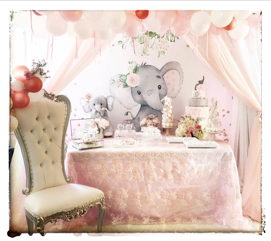 elephant trendy baby shower ideas | Pink And Gray Elephant Baby Shower - Baby Shower Ideas ...