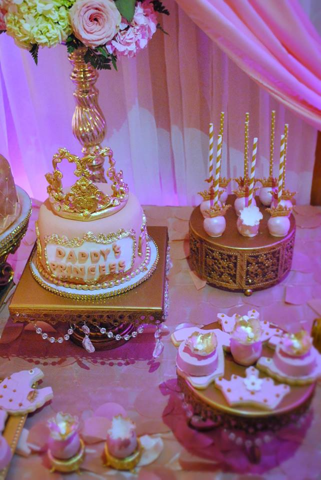 Gold And Pink Princess Baby Shower Baby Shower Ideas