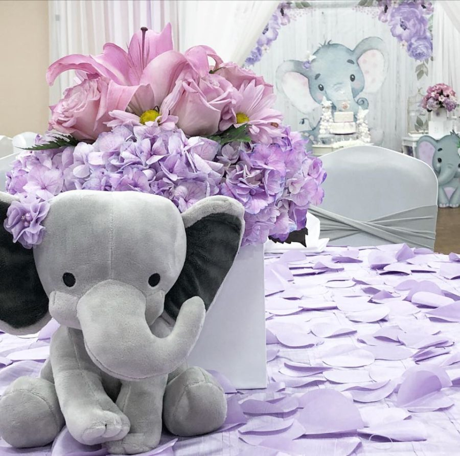 springtime-elephant-baby-shower-centerpieces