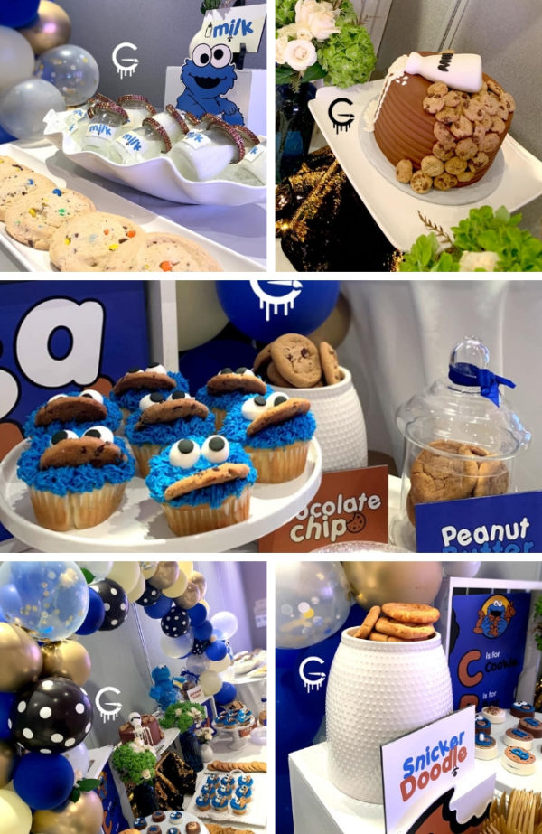 Cookie Monster Baby Shower Party - Baby Shower Ideas ...